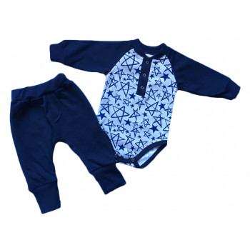 Теплый (ткань футер пенье) комплект одежды 62 68 размеры