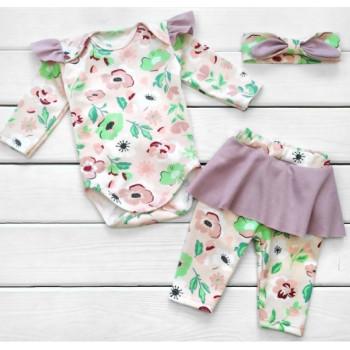 Комплект одежды Маки Интерлок 62 68 74 80 размеры для девочек
