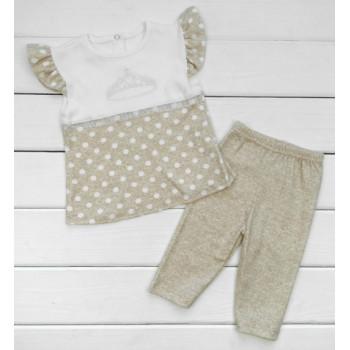 Набор одежды Принцесса Интерлок 80 86 размеры Кофейный для девочек