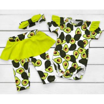 Набор одежды Авокадо Интерлок 62 74 80 размеры для девочек