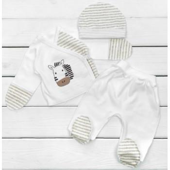 Набор одежды из 3-х предметов Интерлок Размеры 56 в роддом для новорожденного ребенка