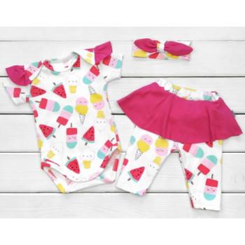 Набор одежды Мороженка Интерлок 62 68 80 размеры для девочек