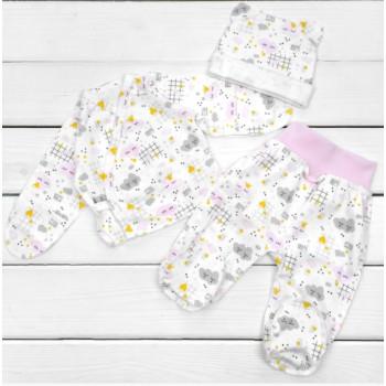 Набор одежды в роддом Интерлок для новорожденных девочек