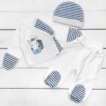Комплект одежды в роддом Интерлок для новорожденного мальчика