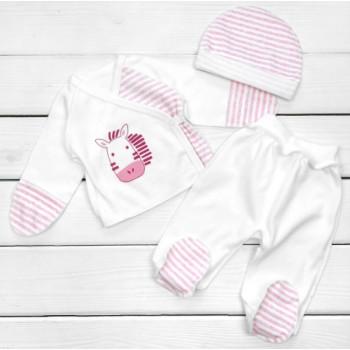 Комплект одежды в роддом Интерлок для новорожденной девочке