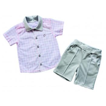 Летний комплект: рубашка и шортики для мальчиков
