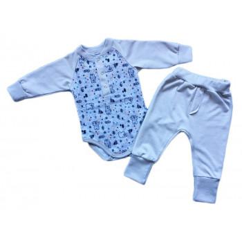 """Теплый из футера пенье комплект одежды """"Норвегия"""" для малышей"""