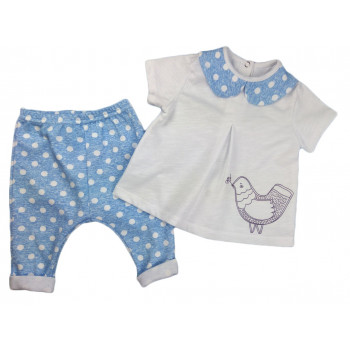 """Летний комплект одежды """"Птичка"""" для девочек"""