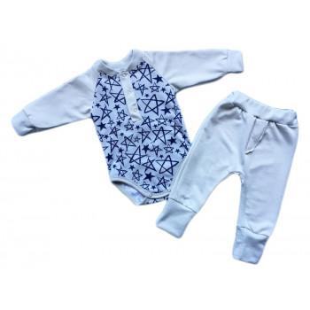 """Теплый комплект одежды """"Звездочки"""" для малышей"""