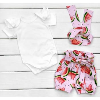 Летний комплект одежды Арбузик Кулир 86 для девочек