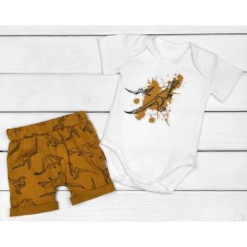 Летний комплект одежды Динопарк Кулир Размеры 68 74 80 86 для мальчиков