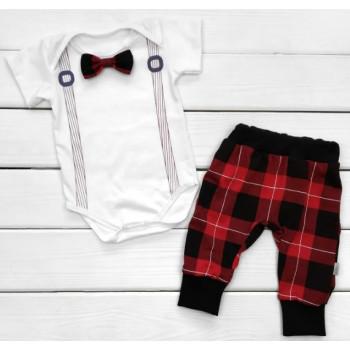 Летний костюм: боди и штаны Стрейч кулир Размеры 68 74 80 86 для мальчиков