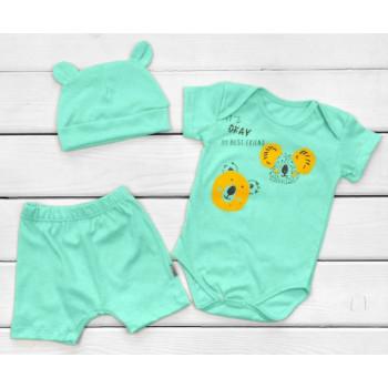 Летний набор одежды Кулир Размеры 86 Ментол для малышей