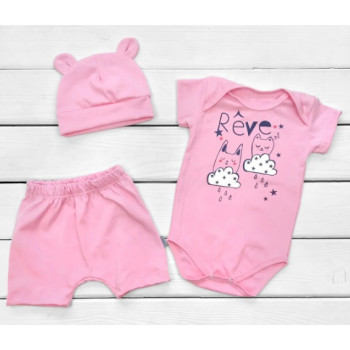 Летний набор одежды Кулир 86 размеры для девочек