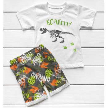 Летний комплект (футболка + шорты) Кулир 128 размеры для мальчиков