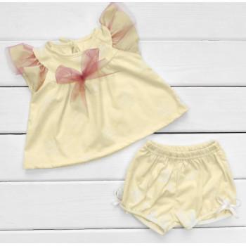 Летний набор одежды Кулир 80 размеры для девочек