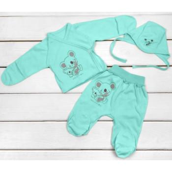 Летний набор одежды в роддом Кулир Ментоловый для новорожденных