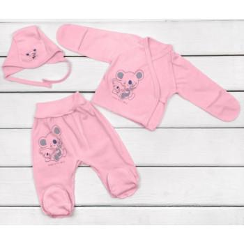 Летний розовый набор в роддом Кулир для новорожденной девочке