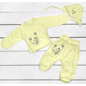 Летний Желтый набор одежды в роддом для новорожденных