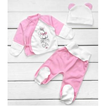 Набор одежды в роддом Интерлок для новорожденной девочке