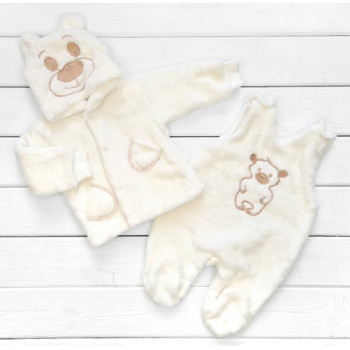 Зимний комплект одежды 62 68 размеры для малышей Мишка