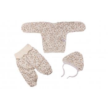 Теплые байковые комплекты для новорожденных в роддом