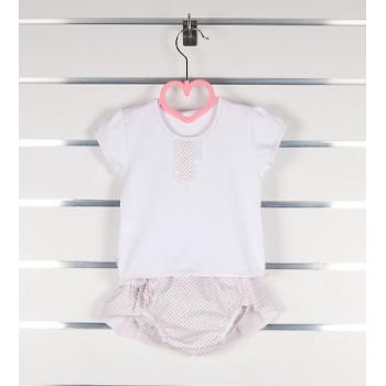 Комплект летней одежды для девочек размеры 62 74