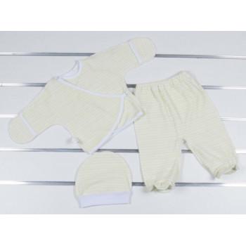 Велюровый комплект (шапочка + распашонка + ползунки) в роддом для новорожденных