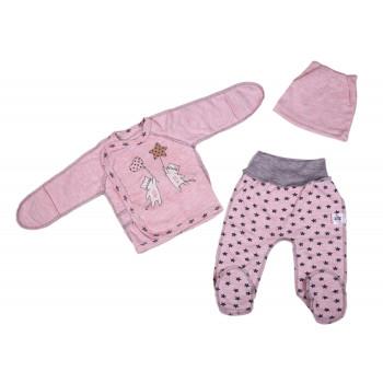 Набор одежды Розовый Интерлок для новорожденных девочек