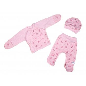 Комплект одежды Розовый Интерлок  56 размер для новорожденных девочек