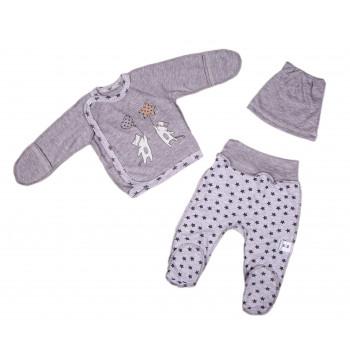 Набор одежды Серый Интерлок для новорожденных