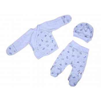 Комплект одежды 62 размеры Голубой Интерлок для новорожденных мальчиков