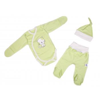 Набор одежды Унисекс Салатовый для новорожденных в роддом 56 62 размеры