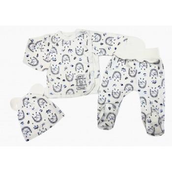 Набор одежды для новорожденных мальчиков в роддом: шапочка, распашонка и ползунки