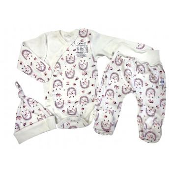Набор одежды для новорожденных девочек в роддом: шапочка, боди и ползунки