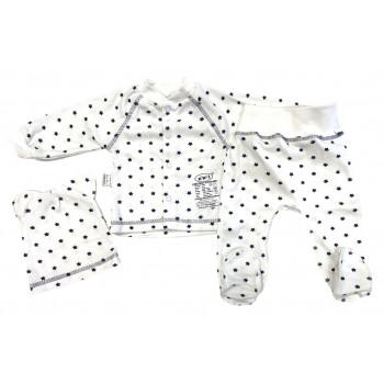 Набор одежды для новорожденных мальчиков в роддом: шапочка, кофта и ползунки