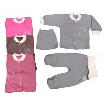 Набор одежды: шапочка, кофта, ползунки 56 62 размеры для малышей