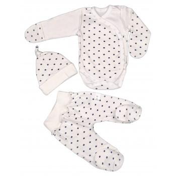 Набор: боди, ползунки и шапочка из интерлока для новорожденных мальчиков
