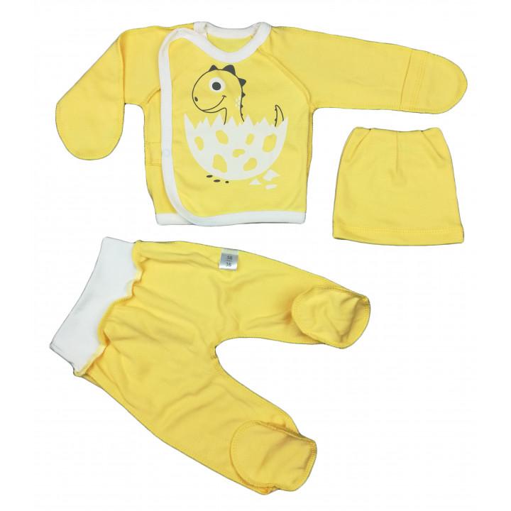Набір одягу жовтого кольору в пологовий будинок для новонароджених