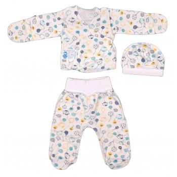Теплый набор 3-ка одежды в роддом для новорожденных мальчиков