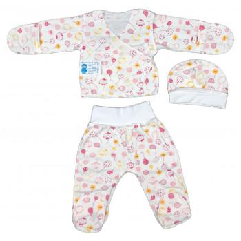 Теплый набор 3-ка в роддом для новорожденных девочек