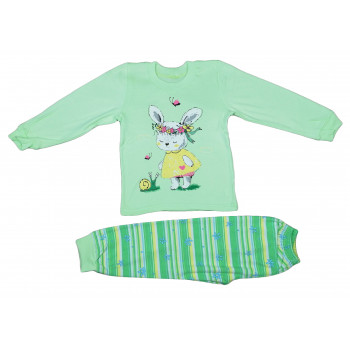 Пижама тонкая из ткани интерлок на девочку 2 3 4 5 6 лет