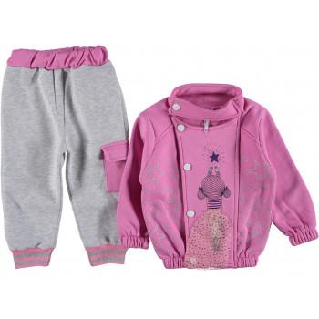Теплый комплект одежды 92 98 104 110 размеры для девочек Звездочка