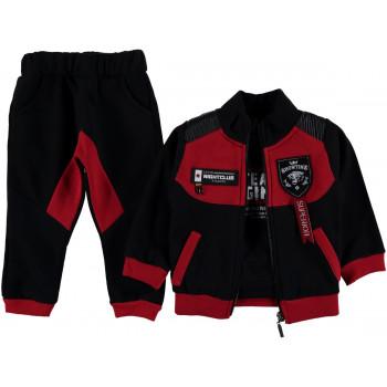 """Теплый красно-черный комплект одежды 3-ка """"Showtime"""" для мальчиков"""