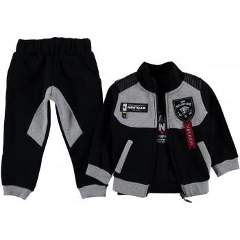 """Теплый серо черный комплект одежды 92 размера """"Showtime"""" для мальчиков"""