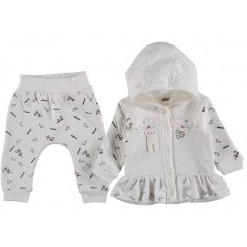 """Трикотажный комплект одежды """"Птички"""" для девочек"""