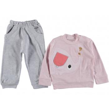 """Тонкий комплект одежды """"Слоник"""" для девочек"""