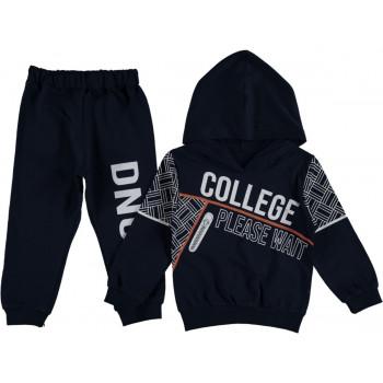 Комплект (худи + штаны) College Черный Двунитка 92 98 104 размеры на мальчика 2-3-4 лет