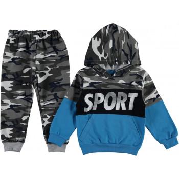 Комплект (худи + штаны) Sport Камуфляж Двунитка 92 98 104 размеры на мальчика 2-3-4 лет
