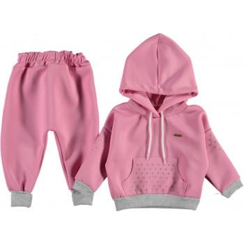 Комплект ( кофта + штаны) Jikko Розовый 74 80 86 размер на девочку 6-9, 9-12, 12-18 месяцев